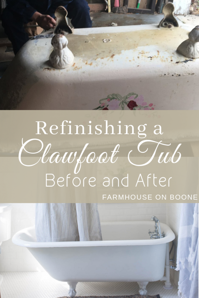 Refinishing A Clawfoot Tub Before And After Clawfoot Tub Tub To