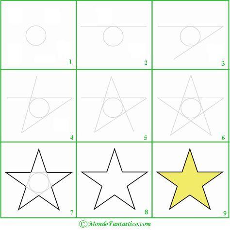 Come Disegnare Una Stella Come Disegnare Modelli Di Stella Stelle