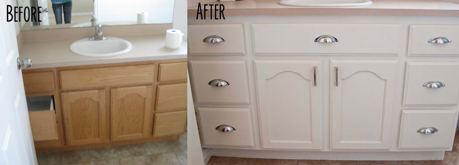 Bathroom vanity painting before and after - Bathroom Vanity Painted Before And After Need Your Bathroom Madeover Quick Astrong Construction Www Bathroommakeoverssouthbend Com Pinterest Bathroom