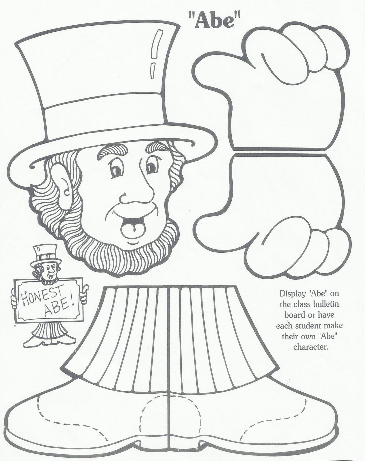 worksheet Abraham Lincoln Worksheets pin by amanda meissner on classroom pinterest toilet paper roll abraham lincoln cut and paste activity for early childhood