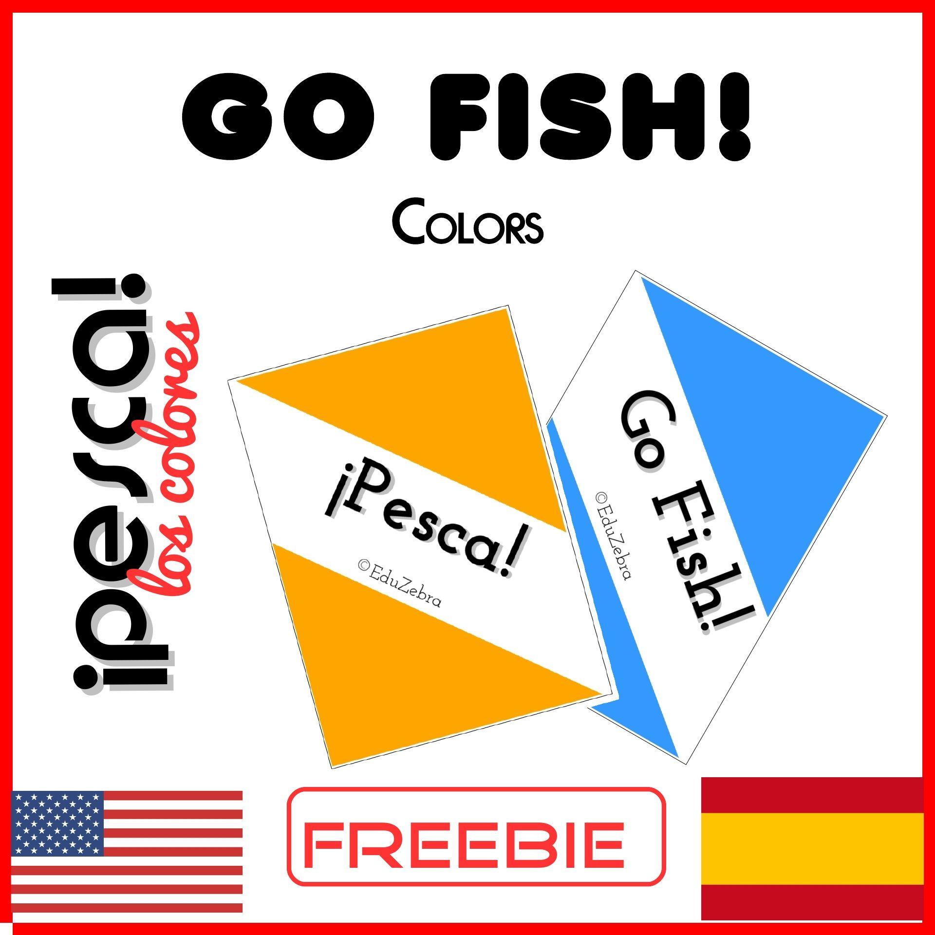 Go Fish Colors Pesca Los Colores Spanish Esl Going Fishing Spanish Fish [ 1920 x 1920 Pixel ]