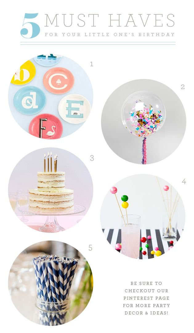NAPCP Blog: 5 Must-Haves for Your Little One's Birthday Party!
