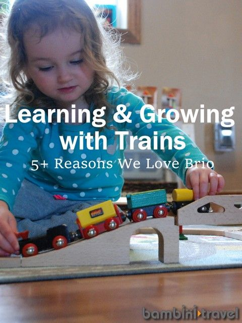 #Legebyen anbefaler denne artikel... Learning + Growing with Trains | 5 reasons we love #BRIO: http://www.bambinitravel.com/Pages/Activities/activityitem.php?id=227  | Find #BRIO #togbaner på Legebyen.dk