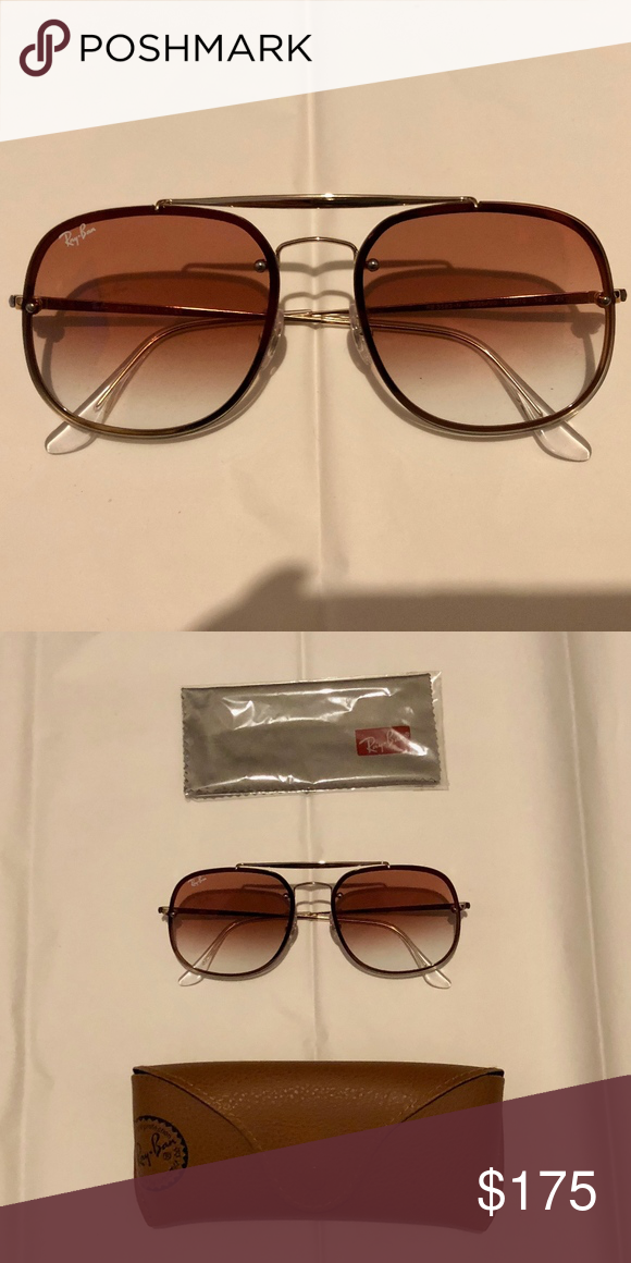 10c9ec62c8ed5 Ray-Ban Blaze General RB3583N Sunglasses The General model from the Aviator  family gets a