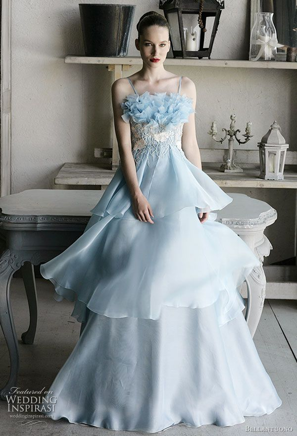 Bellantuono Wedding Dresses 2010 Blue wedding dresses Wedding