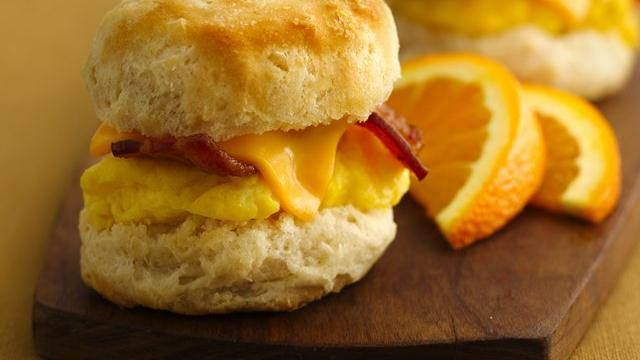 Breakfast Mini Biscuit Sandwiches