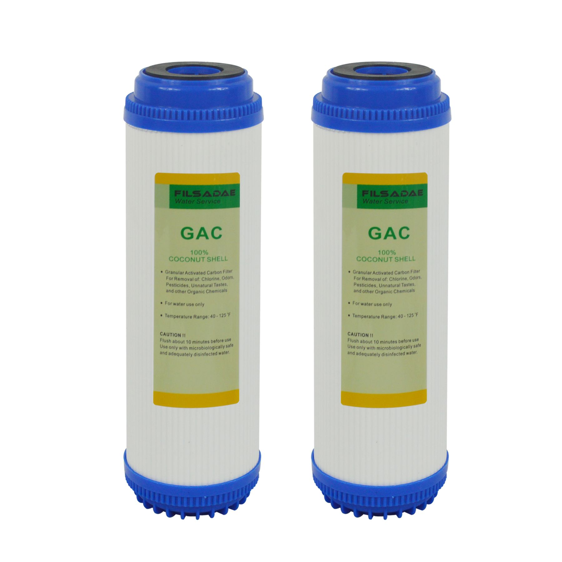 2 Pack Of Granular Activated Carbon 10 Inch Gac Water Filter Replacement For Under Sink And Reverse Water Filter Reverse Osmosis System Reverse Osmosis