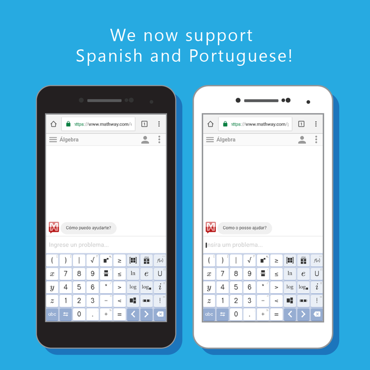 Mathway is now available in Spanish and Portuguese! Check it ... on