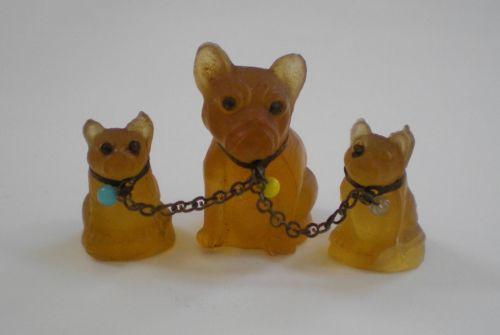 Amber Czech Glass French Bulldog Puppies Bulldog Puppies French Bulldog Puppies Vintage Dog