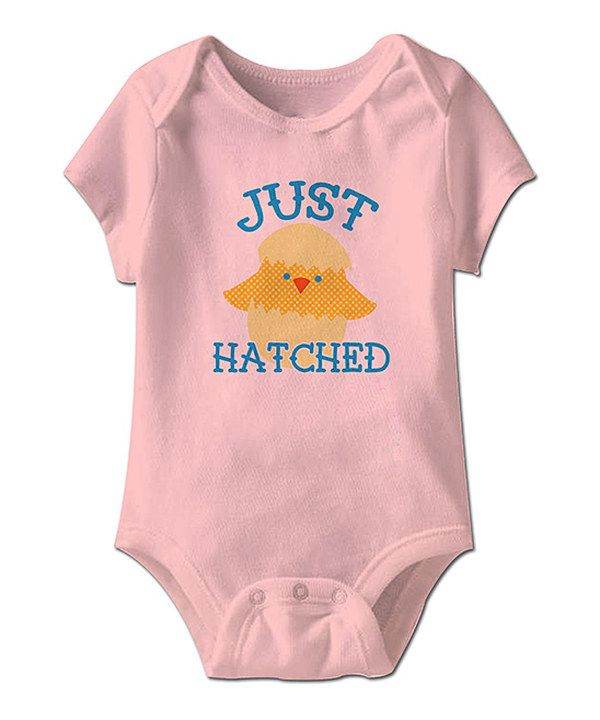 Look at this Light Pink 'Just Hatched' Bodysuit - Infant on #zulily today!
