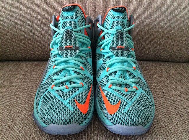 low priced 8dfc5 db2dd Nike LeBron XII 12 Teal Grey-Orange Sample (19)