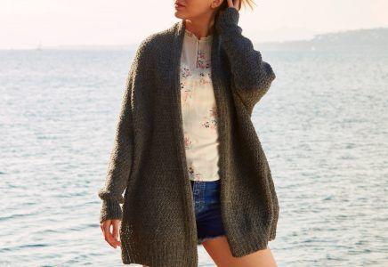 Photo of Textured coat – free knitting instructions