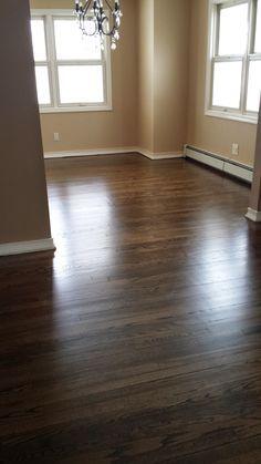 Minwax Jacobean Satin Finish Hardwood Floors Living Room