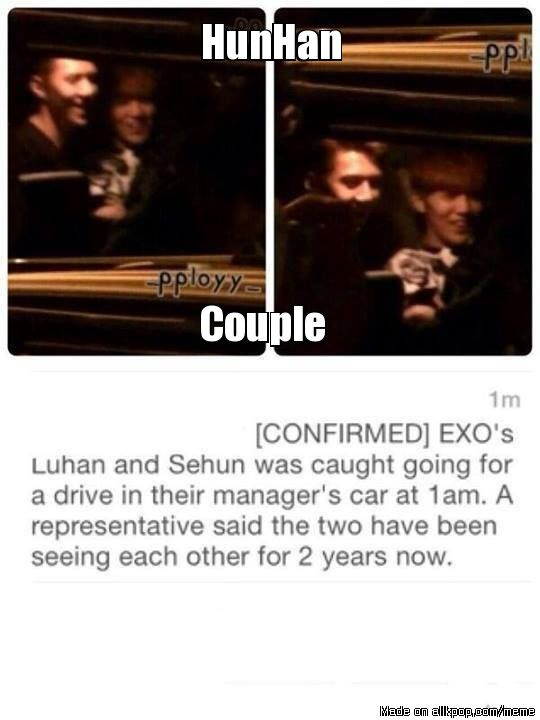 Another EXO members caught dating in a car without opened roof.LOL. #allkpop #memes