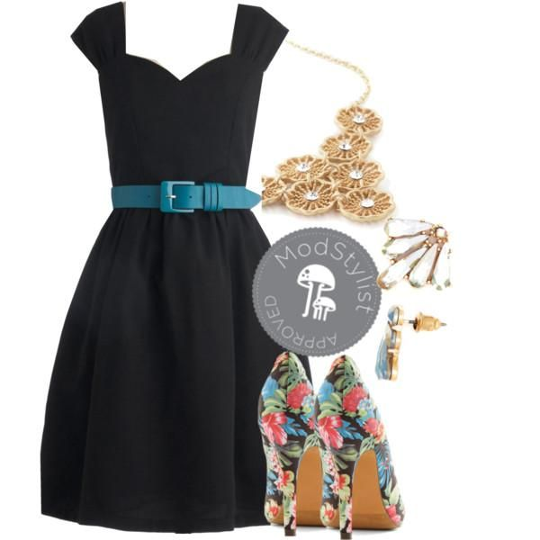 Cutest LBD ever? We're in love. #LBD #OOTD #floralshoes