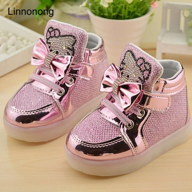 886ac4430c6e6 Spring Autumn Children s Sneakers Kids Shoes For Girls Toddler Shoes LED  Light Chaussure Enfant Luminous Sneakers tenis infantil