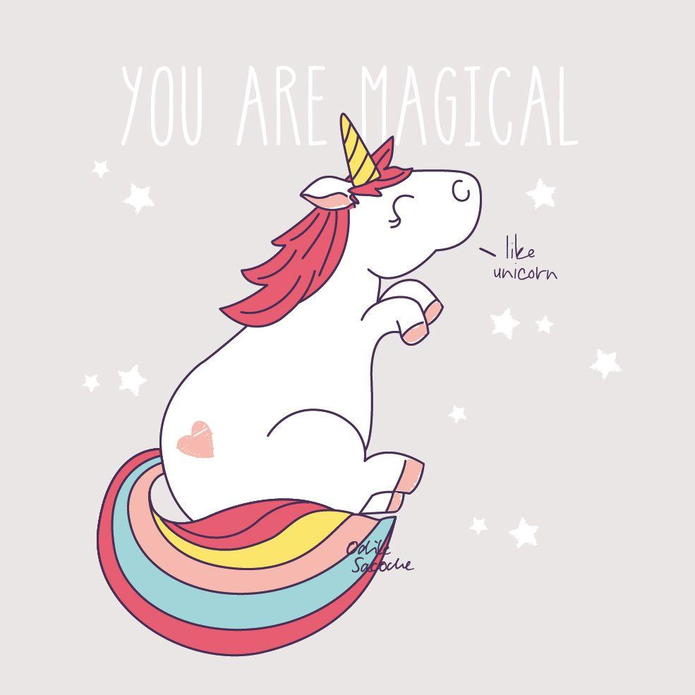 Odile sacoche le book portfolio illustration licorne graphism pinterest unicorns - Image licorne ...