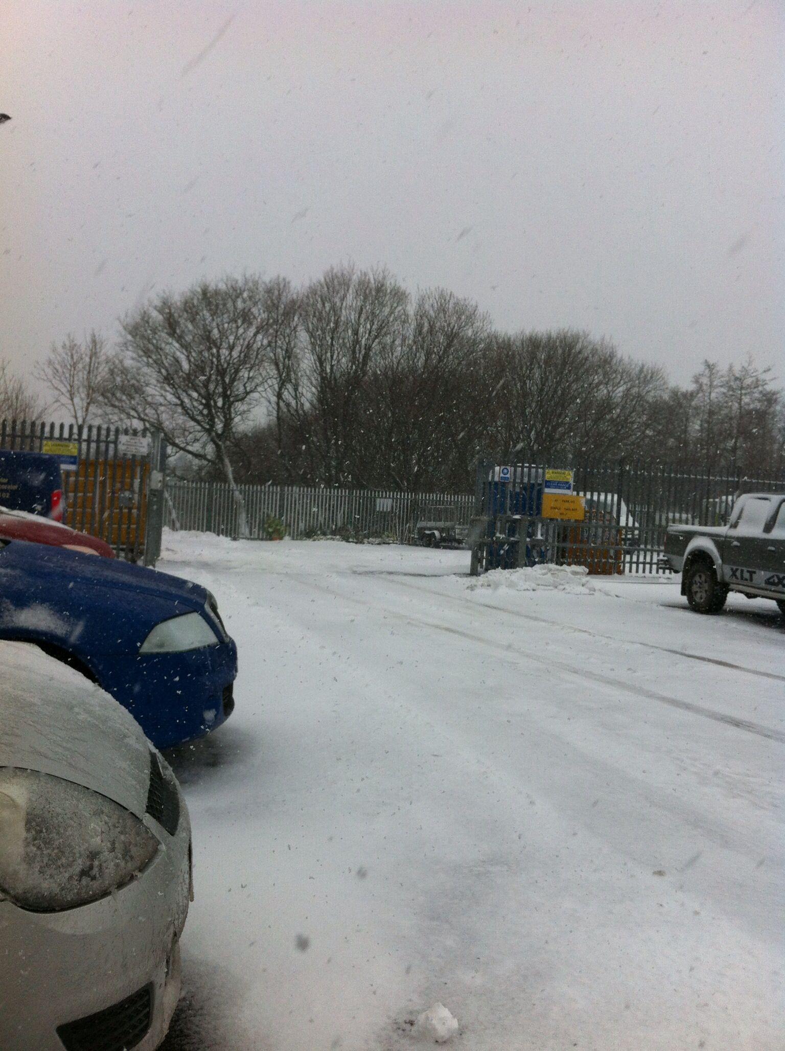 Winter arrives at DARWEN