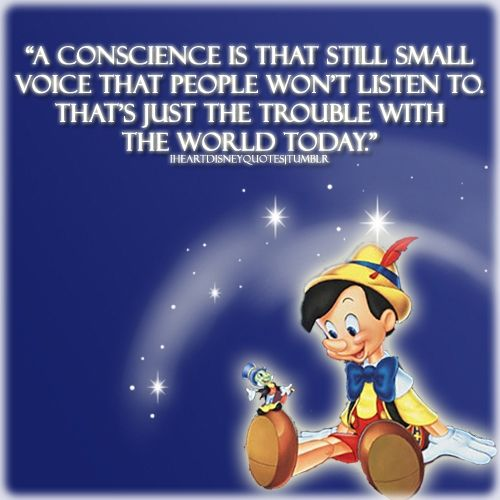 Disney <3 Pinocchio <3 Conscience