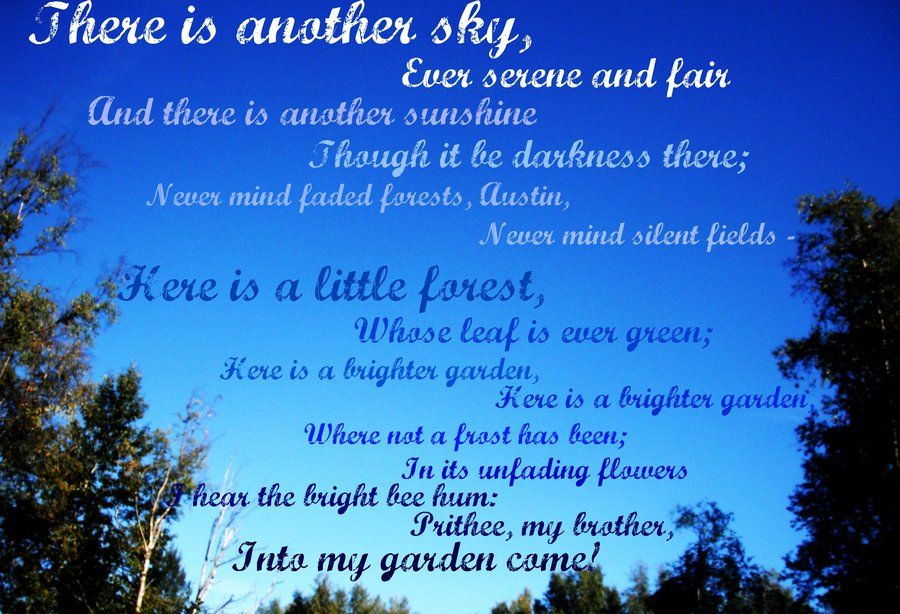 There is another sky - Emily Dickinson