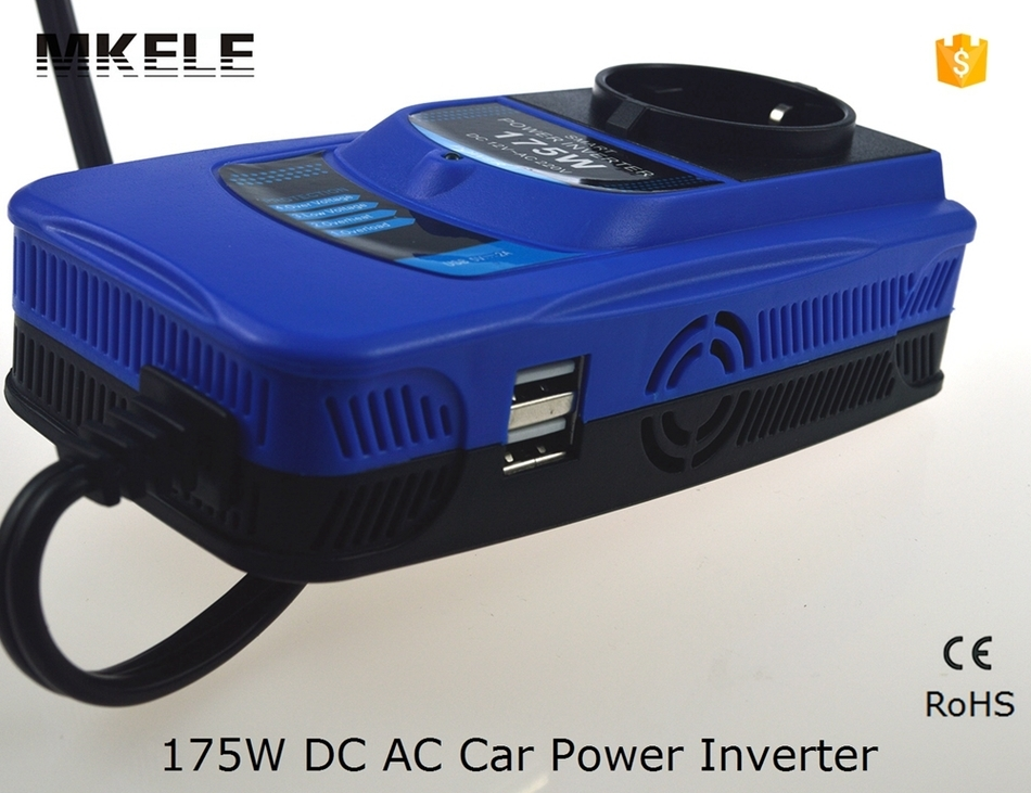 27.48$  Buy here - http://alimpt.shopchina.info/go.php?t=32607104400 - German Standard Modified Sine Wave 175w 12vdc 230vac Power Inverter Double Usb 5v Power Inverter for Car 27.48$ #buyonlinewebsite