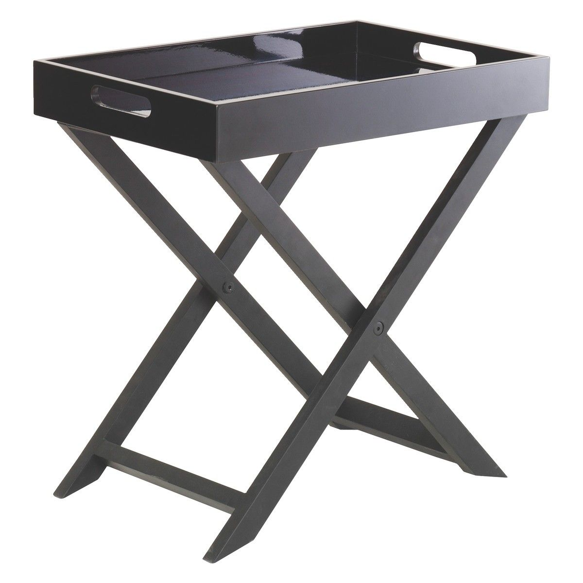 Best Oken Black Folding Side Table Small Occasional Table 400 x 300