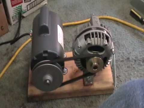 Maxflow 3 Phase Alternator Mounted With 1 2 Hp Electric Motor Youtube Free Energy Generator Free Energy Projects Electric Motor