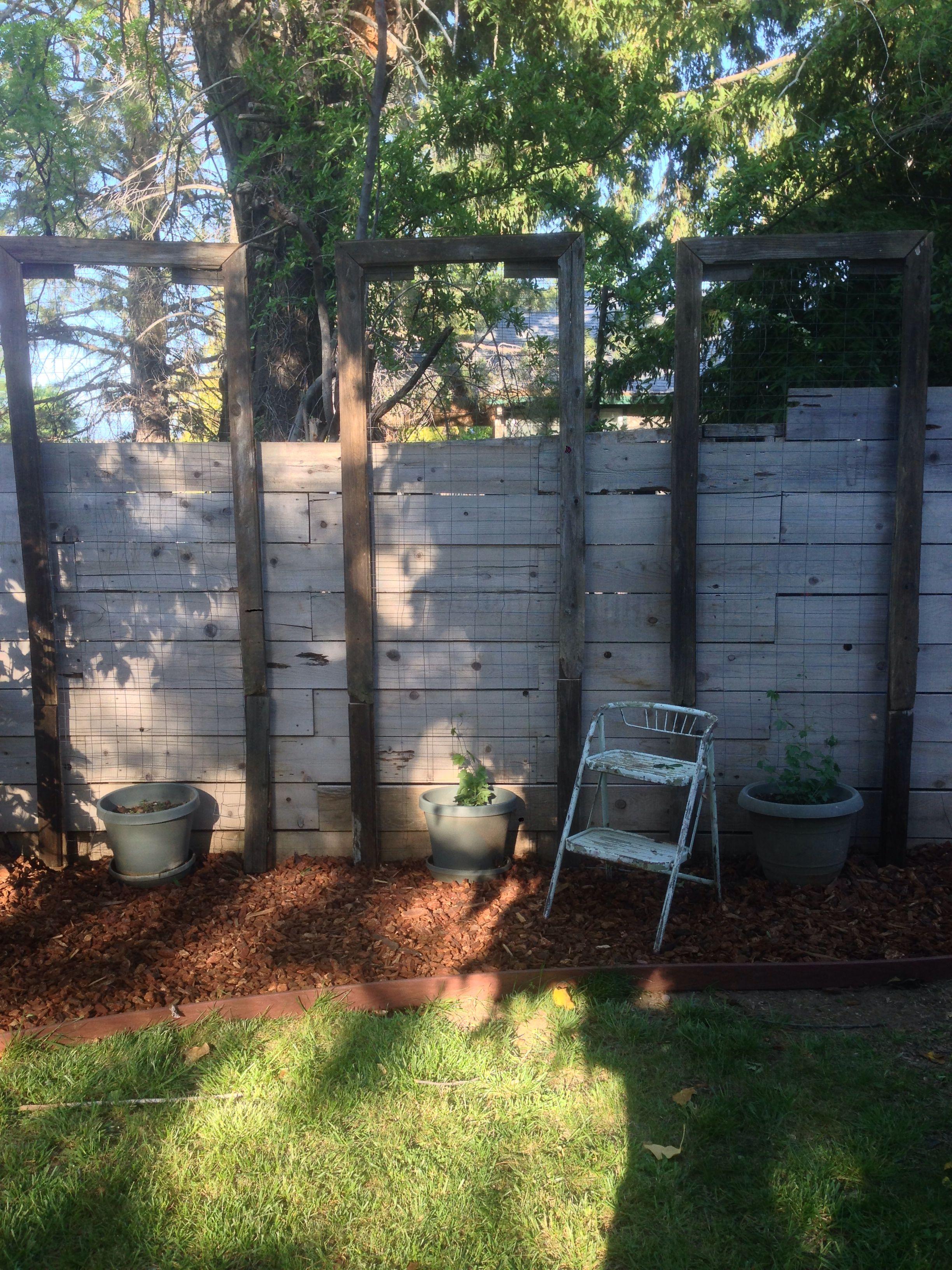 Diy Hop Trellis From Reclaimed Fence Pieces Urban Garden 400 x 300