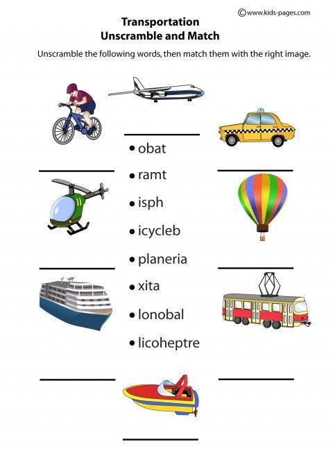 transportation unscramble english educacion ingles vocabulario en ingles worksheets. Black Bedroom Furniture Sets. Home Design Ideas