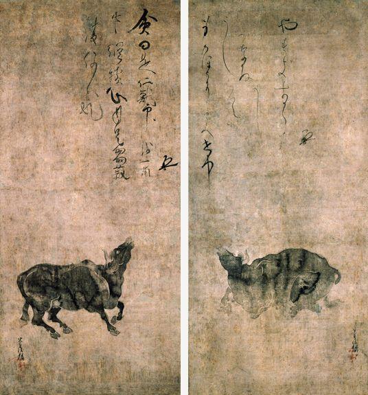 Tawaraya Sotatsu-Cow