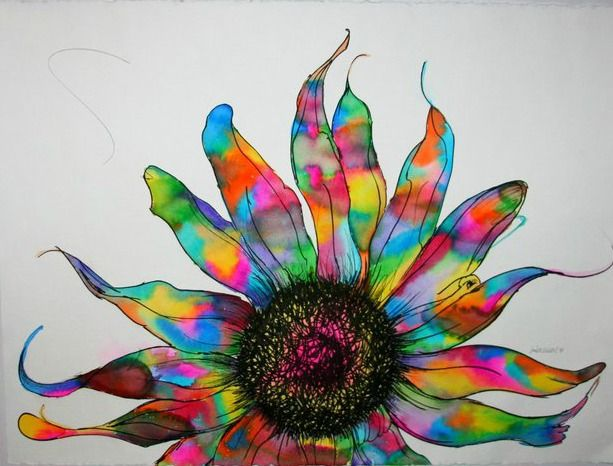 * Psychedelic Sunflower * by Jordan Martin | A R T ...