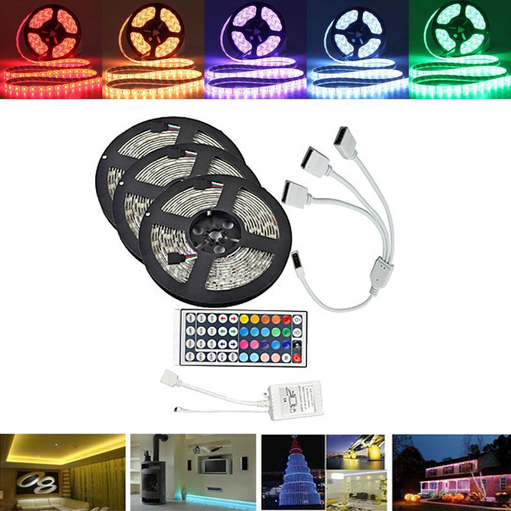 Ca 44 Keys Controller 15M SMD3528 Non-Waterproof RGB 900 LED Strip Light Kit