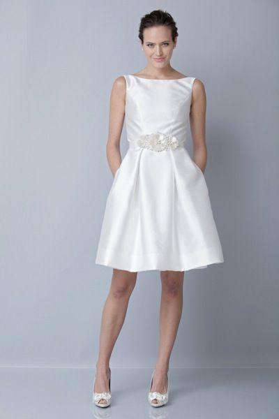 Short wedding dress Theia 890010 | Wedding Dresses  | Pinterest ...