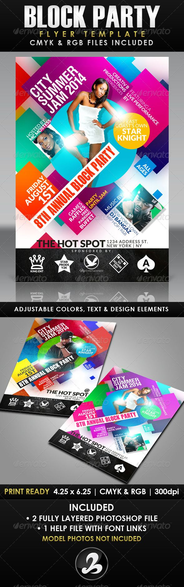 Block Party Flyer Template | Party flyer, Flyer template and Club ...