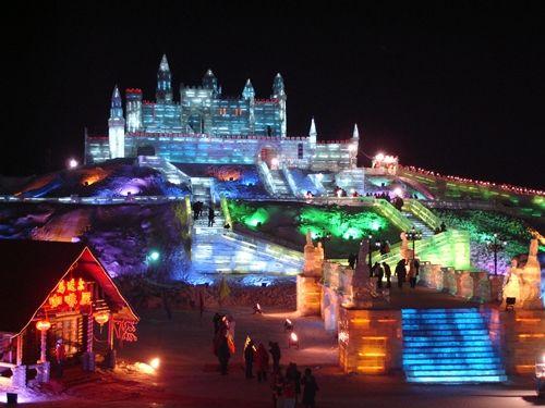 ubicado en harbin capital de la provivencia de heilongjiang. republica popular de china temperatura -20C. Apodado ciudad de hielo