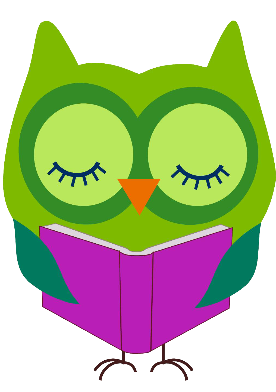 Owl Reading Book Clip Art
