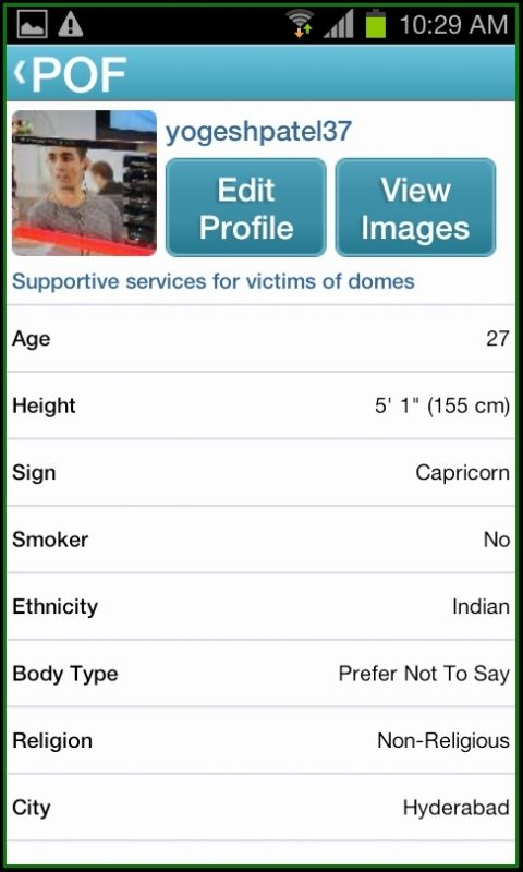 pof dating app profile when you are registered and sign in with
