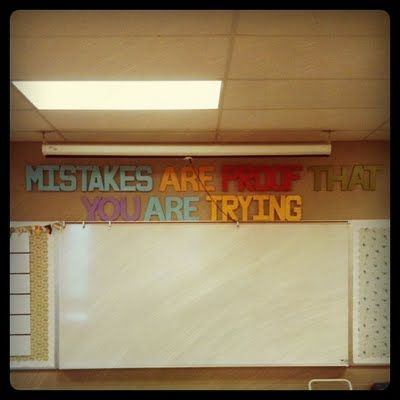 Mistakes are proof that you are trying....also like her simple rules (Work hard. Be nice.)
