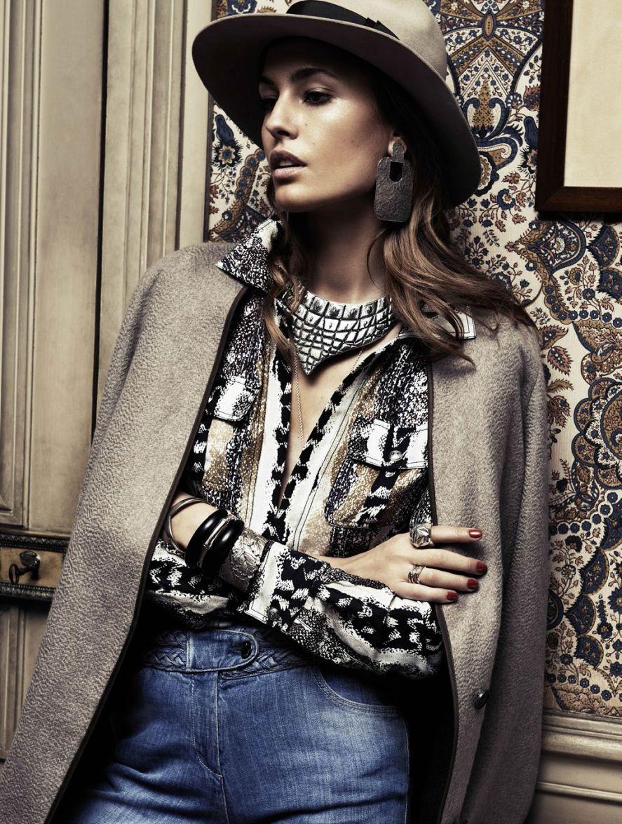 Nadja Bender by Claudia Knoepfel and Stefan Indlekofer for Vogue Paris Mach 2014 3