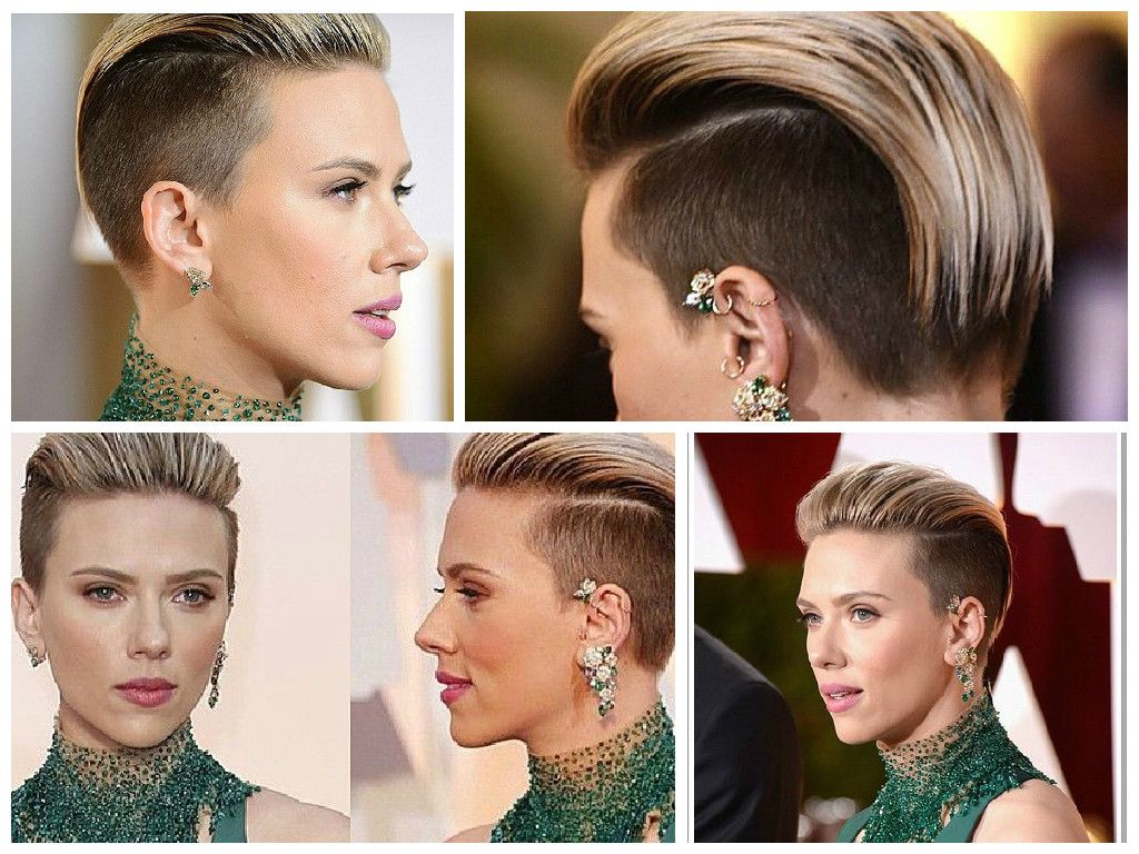 Scarlett johannson undercut short hair hairstyles to try