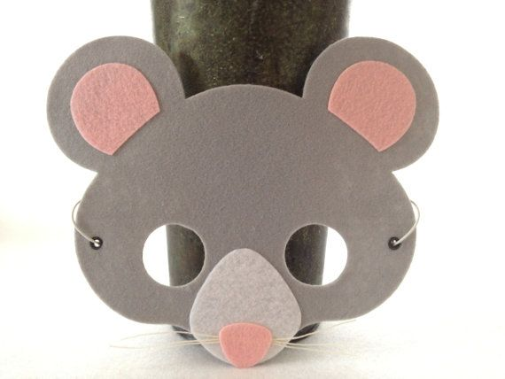 mouse mask felt animal mask mouse costume kids