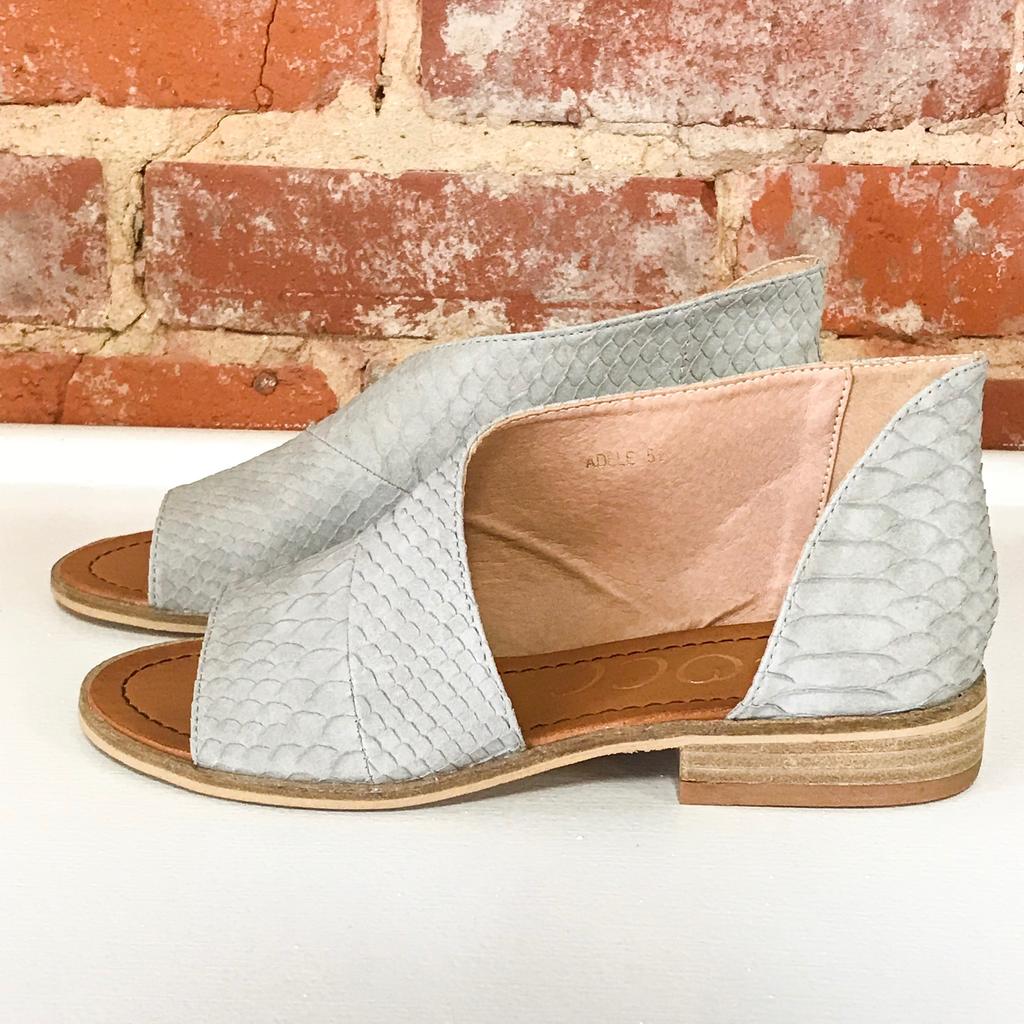 9f1349142e Shoes 54 Slip In Snake Texture Grey Sandal in 2019   Let's Talk ...