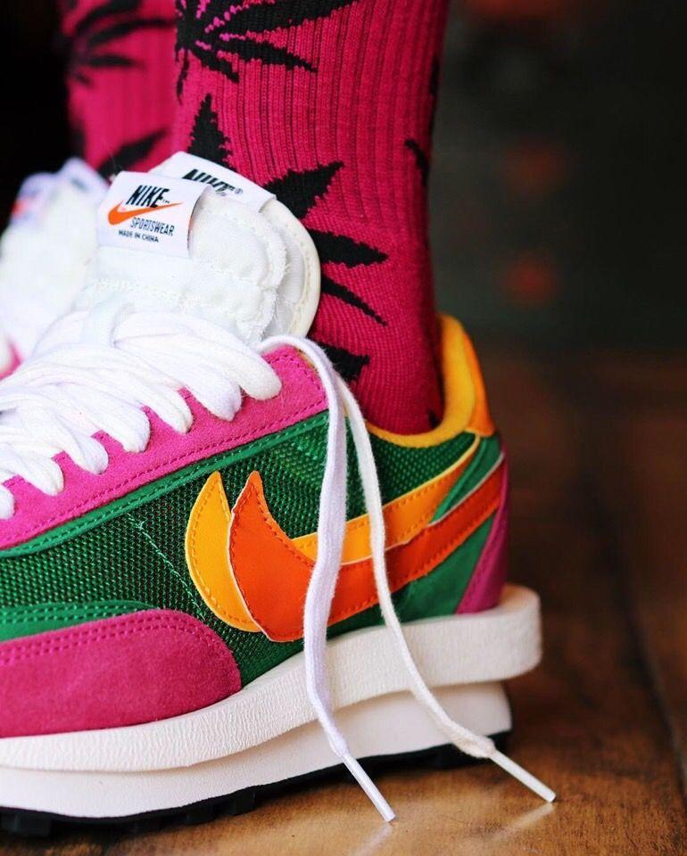 Sacai X Nike Ldv Waffle Daybreak Green Multi Bv0073 301 Nike Sacai Sneakers