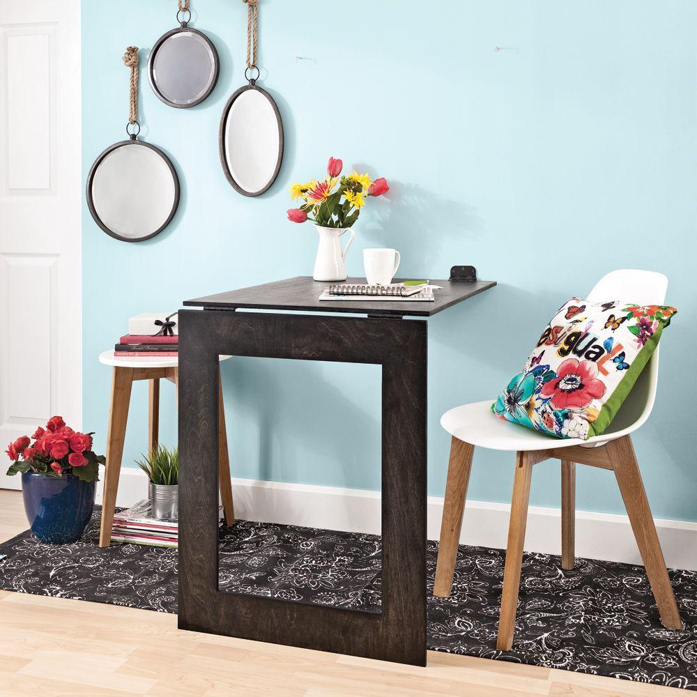 Fabriquer Une Table Escamotable en étapes: fabriquer une table-miroir pliante   décoration