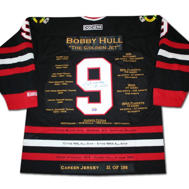 NHL Chicago hawks Bobby Hull Career Jersey