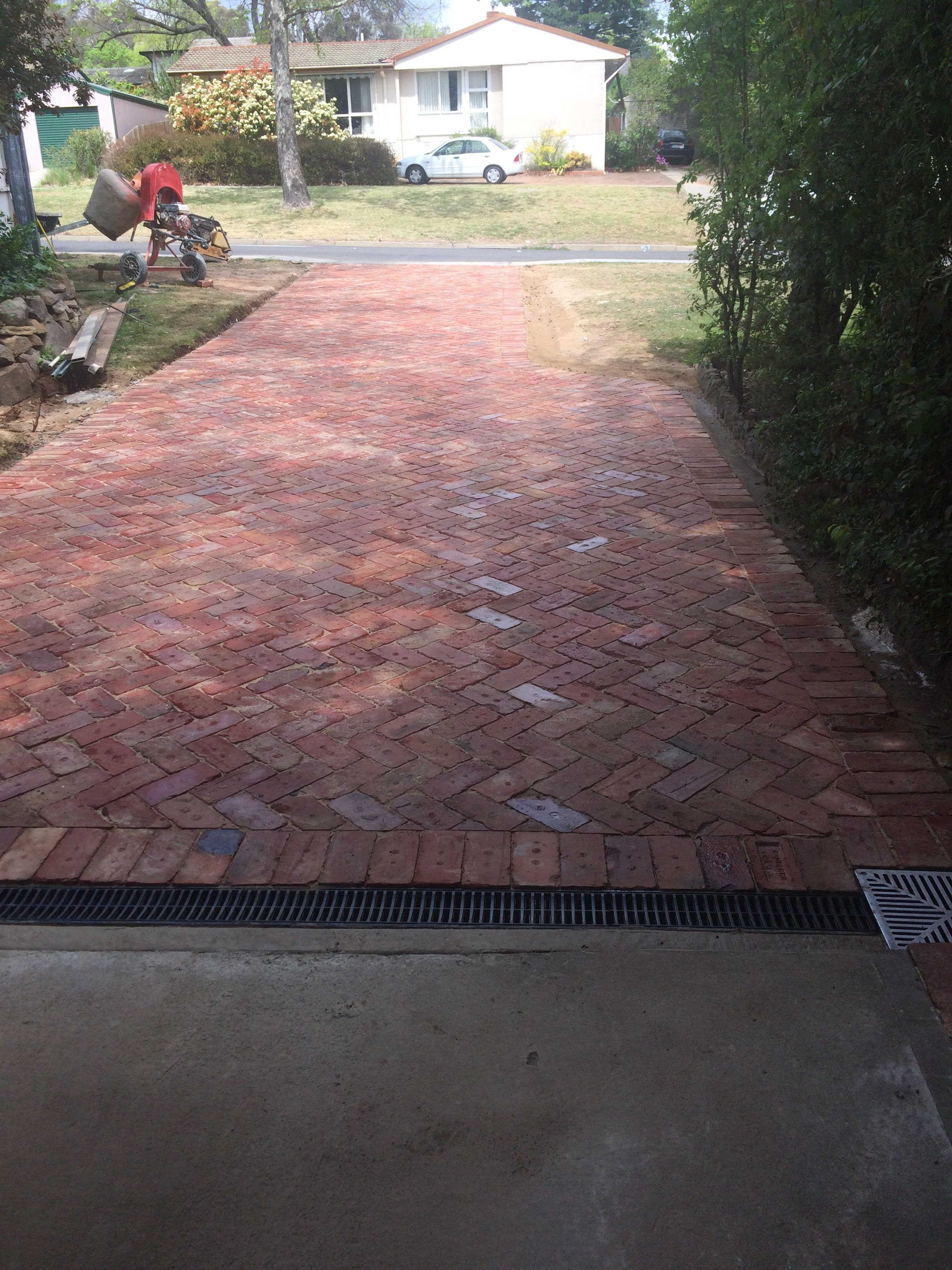 Recycled Canberra Red Brick Driveway Brick Driveway Front