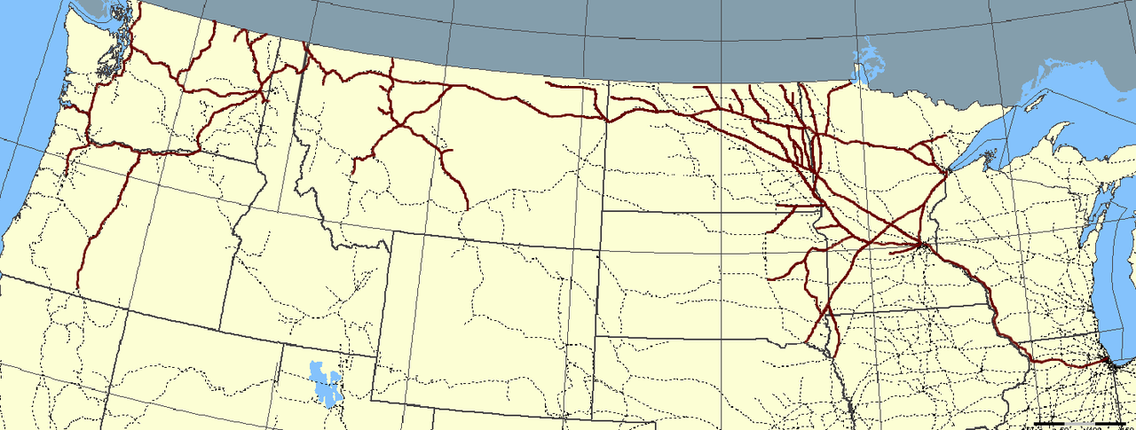 GN Route Map - Great Northern Railway (U.S.) - Wikipedia ... on us truck routes map, us train routes map, us air routes map, us cruise routes map, railroad routes map,
