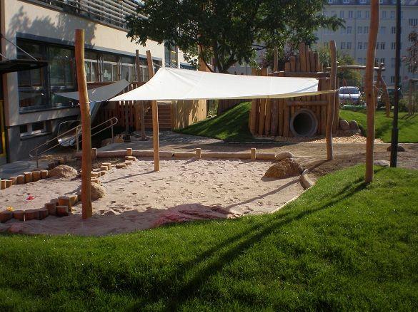 Referenzen Maik Rubner Garten Und Landschaftsbau Leipzig Sandkasten Garten Hinterhof Spielplatz Garten Spielplatz