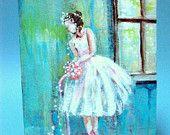 Beautiful ballerina art by Donna Allen at Bigapple60 on Etsy