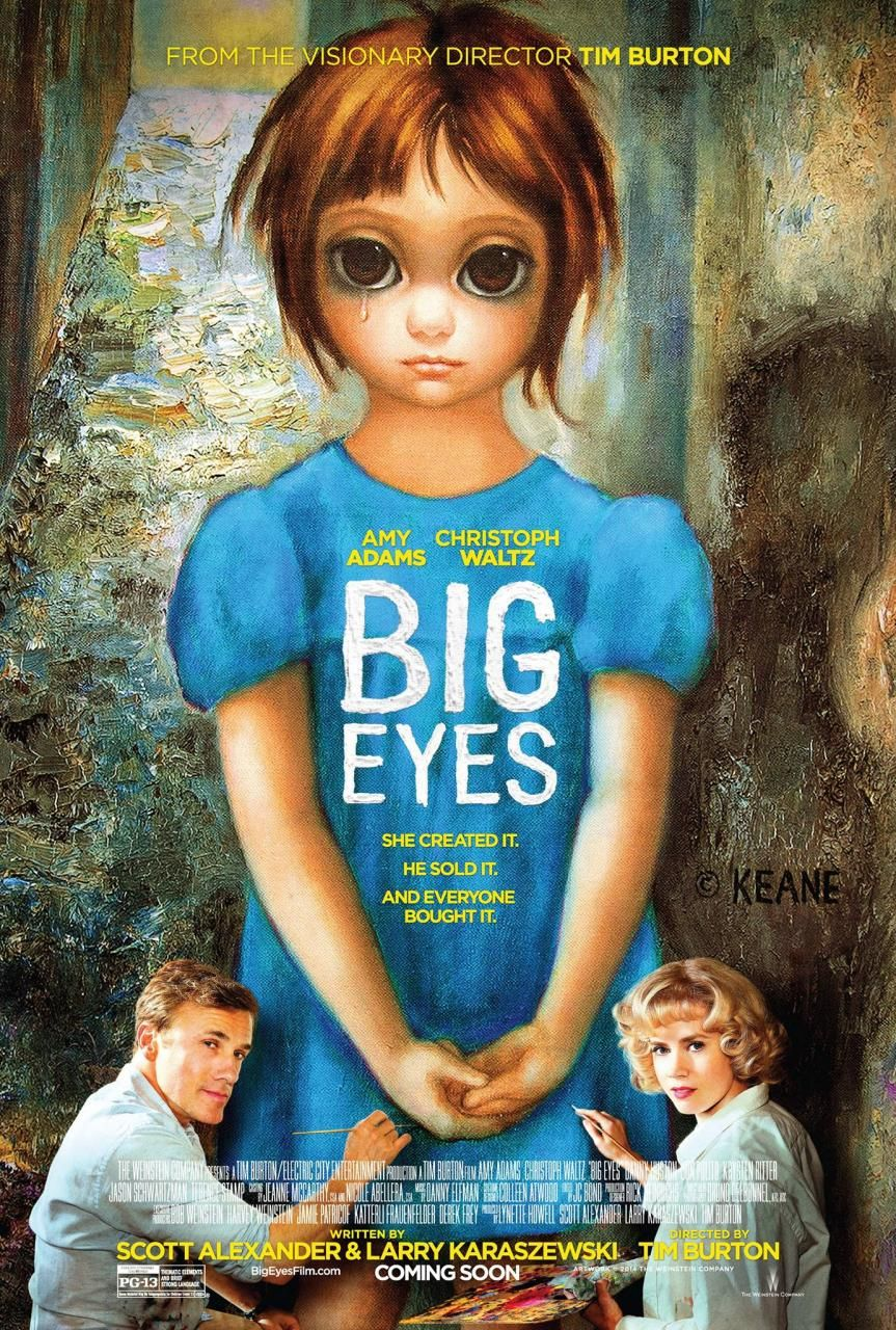 Amy Delucia poster for tim burton's big eyes | cosas que ver | tim